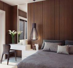 11 quartos com painel de madeira atrás da cama - blog de decoração