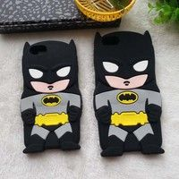 """Wish   Cute 3D Cartoon Batman Soft Silicone Case Cover For iPhone 6 4.7"""" / 6 plus 5.5"""" Capa Silicon Cell Phone Cases"""