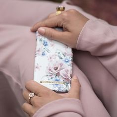 Floral Romance by lovely @nathalieedstrom - Fashion case phone cases iphone inspiration iDeal of Sweden #flower #blue  #pink #roses #gold #fashion #inspo #iphone