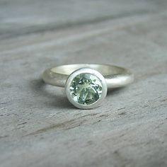 Green Amethyst Ring $92.00
