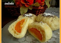 Eastern European Recipes, Dumpling, Hot Dog Buns, Baked Potato, Sushi, Muffin, Food And Drink, Bread, Baking
