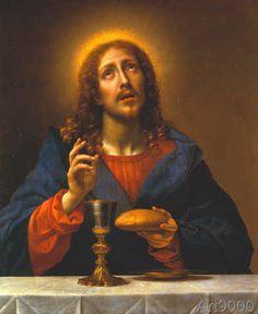 Carlo Dolci - Christus, das Brot und den Wein segnend