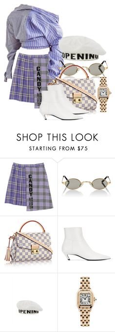 """""""CANDY OF HIS EYE"""" by xxxthebombshellfactoryxxx ❤ liked on Polyvore featuring Roberi & Fraud, Balenciaga, Opening Ceremony and Cartier"""
