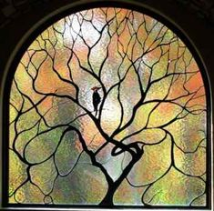 Wayne Cain stained glass- rhythm of the branches