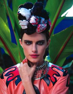Mexico, the home to Frida Kahlo, who gave us the amazing colors and images within her paintings. Bright colored dresses, almost surreal and spectacular ornaments inspired from the famous painter are brought on this photoshoot of Vogue Mexico with the beautiful model Rostro de Diosa. View the wonderful world of Frida. Photos via Vogue Mexico Photo: Michael Filonow Stylist: Lauri...