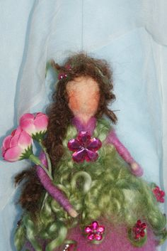 Purple Fairy 8 inch  by FairyfeltbySiSo on Etsy