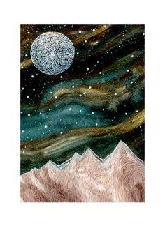 Fine Art PrintBallad of a Harvest Moon by elisemahanfineart