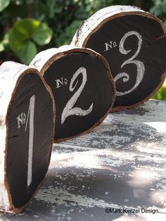 DIY - Birch Log Table Numbers