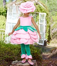 5 Super cute flower costumes maybe a little smaller on the headpieces. Love the costumes.