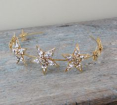 Jeweled star filigree bridal headband by EricaElizabethDesign