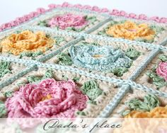 @ Dada's place: Pretty cushion cover - pattern is from a Japanese crochet book