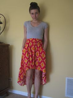 [Tutorial] DIY High/Low skirt very cute!! Probs gonna do that with one of my moms old dresses!