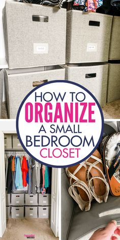 Organize a small bedroom closet easily when you add these budget friendly storage systems. Grab these cube organizers to organize shoes in a closet and so much more! Source by organizationobsessed - Best Closet Organization, Home Organization Hacks, Organizing Your Home, Bedroom Organization, Organizing Ideas, Organizing Small Closets, Pantry Organisation, Home Design, Master Bedroom Closet