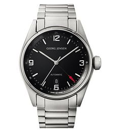 GEORG JENSEN Delta Classic stainless steel watch 42mm