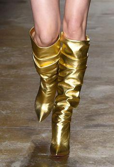 032dfe354a1b8 New York Fashion Week   Spring 2016 Gold Boots