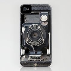 Vintage Autographic Kodak Jr. Camera iPhone Case by Typography Photography™ - $35.00