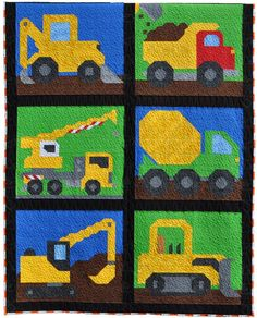 Boys Quilt Patterns, Applique Quilt Patterns, Sewing Patterns, Tractor Quilt, Traditional Cribs, Twin Quilt Size, Baby Boy Quilts, Quilting Designs, Quilting Ideas