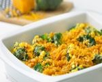 Recipe for broccoli and cheese casserole, an easy-to-make side dish that serves up to 8 people.
