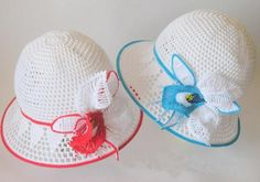 Baby hat with orchild - Crochet creation by tatMart