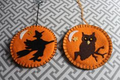 Halloween Owl Halloween Witch Halloween Decoration by TheOwlCoves