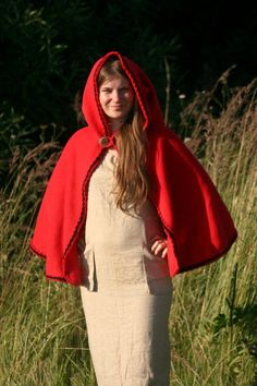 Ready to ship in time for Halloween Red riding hood cape