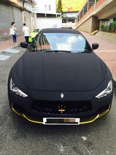 Maserati Ghibli Wrapped in Matte Black Suede