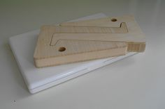 Puzzle Bamboo Wooden Laptop Stand Flat