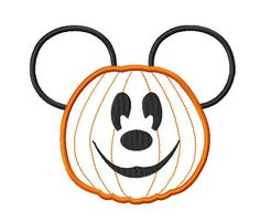 Character Jack o lantern Embroidery Applique by ohmyapplique