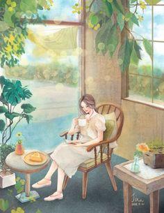 Image Avatar, Reading Art, Cute Girl Wallpaper, Cute Illustration, Anime Art Girl, Cute Drawings, Cartoon Art, Art Pictures, Cute Art