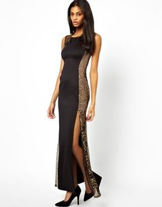 Lipsy Maxi Dress with Lace Side