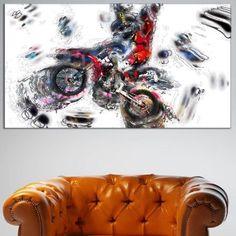 Design Art Moto Cross Sports, 32 inch x 16 inch, Size: Medium 25 inch-32 inch, Multicolor