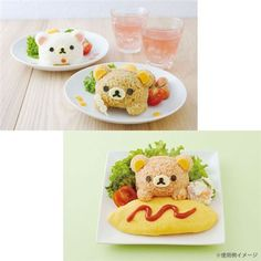 Rilakkuma bear bento rice decoration set San-X Japan 5