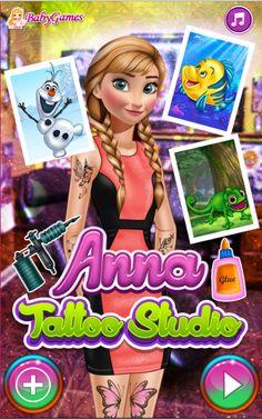 Anna Tattoo Studio   http://playfrozengames.com/frozen-games/anna-tattoo-studio