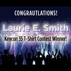 Congratulations to #Keycon 35 T-Shirt Design Winner Laurie E. Smith  Laurie's designs for will be featured on our exclusive t-shirts.