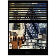 "Trademark Fine Art ""Window View The Gherkin 1"" Canvas Art by Philippe Hugonnard"