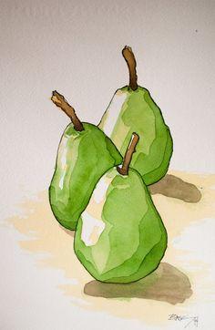 Картинки по запросу pear water color