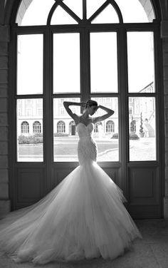 stunning fishtail wedding dress by @BERTA