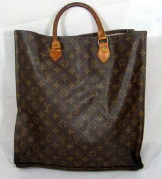 Louis Vuitton Sac Plat Vintage Tote Bag Purse