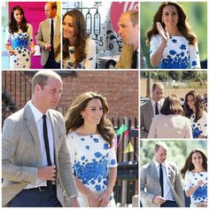 The Duke and Duchess of Cambridge in Luton today.