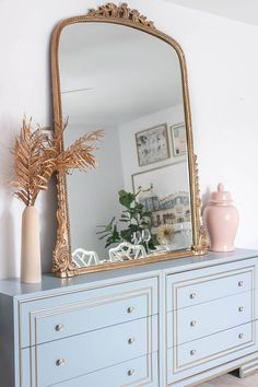 5 Affordable Dupes for the Anthropologie Mirror - Red Soles and Red Wine Living Room Mirrors, Living Room Decor, Dining Room, Ikea Mirror, Mirror In Bedroom, Vintage Gold Mirror, Gold Mirrors, Large Gold Mirror, Home Bedroom