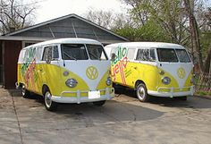 Two 1966 split-window VW buses for sale