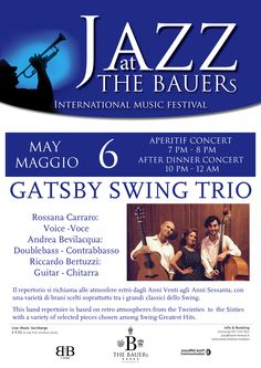 Another great Friday with our great #Jazz #Music !! this friday with Gatsby Swing Trio