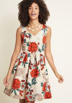 Elegant Excellence Floral Dress   ModCloth