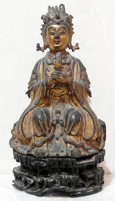 Xi Wang Mu The taoïst Mother Queen holding the bar Ming Dynasty XV-XVIth century