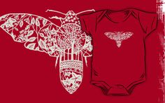 Moth Paper-Cut by thethinks for your baby #babyclothes