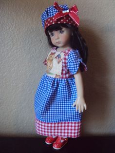 I LOVE THE 4TH OF JULY DRESS FOR EFFNER LITTLE DARLING/BETSY McCALL BY CGREYROMA