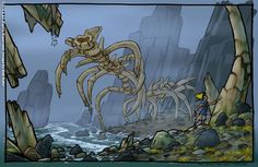 Jak and Daxter - Concept Art for an island