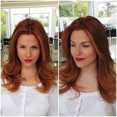 Work day  com ela @jekalasbit Color: @_kellyavargas Mechas: @diii_fredo #ruivo #ruivodivo #instaruivo #ruivas #redhair #redhear #ginger #hair #red #gingergirl #meiahora