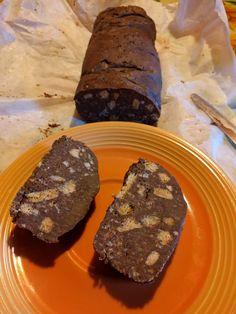 Salame di cioccolato light: Philadelphia light, cacao zuccherato e biscotti secchi!