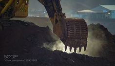 Big bucket excavator New Caledonia mining by dbordesair